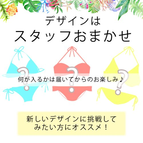この商品の詳細をチェック!!1: 【福袋】セットビキニ3点入り福袋